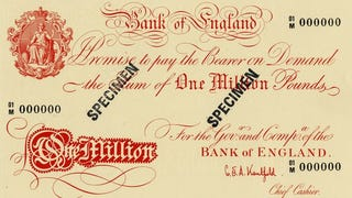 Illustration for article titled £100 million notes probably the most valuable currency that exists