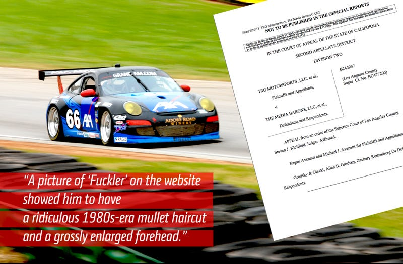 Illustration for article titled The Unbelievable Parody Site That Sparked A Race Team's Losing Lawsuit