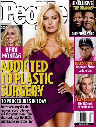 Illustration for article titled Just Perfect: People Glamorizes Plastic Surgery Addiction