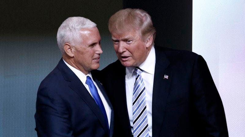 Illustration for article titled Trump Casually Informs Pence He Going To Make One Or Two Appearances During Speech