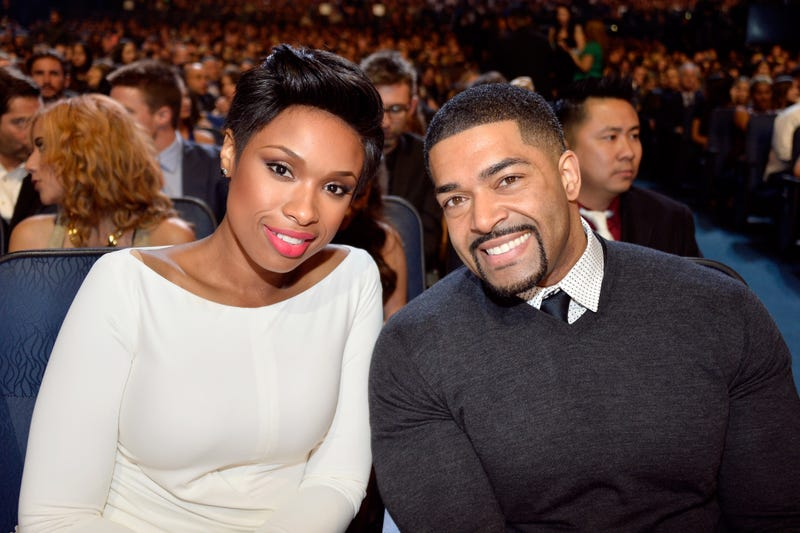 Jennifer Hudson and David Otunga at the 40th Annual People's Choice Awards at Nokia Theatre L.A. Live in Los Angeles on Jan. 8, 2014 (Frazer Harrison/Getty Images for the People's Choice Awards)