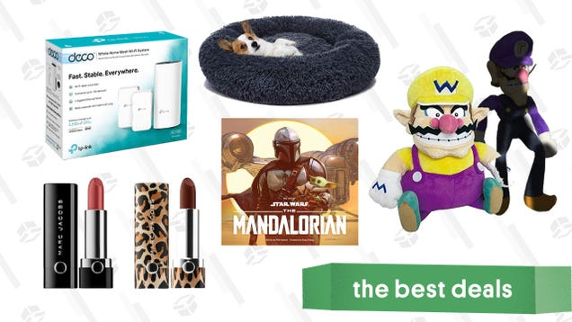 Friday s Best Deals: Best Buy Games Sale, TP-Link Mesh Routers, Mandalorian Art Book, Wario and Waluigi Plush, Orthopedic Dog Bed, Marc Jacobs Lipstick, and More