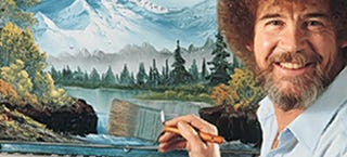 Illustration for article titled Pop an Ambien and watch happy Bob Ross happily washing his happy brush