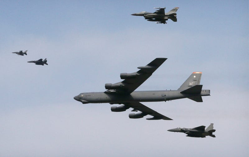 Illustration for article titled B-52 And Fighters ​Fly Low Over South Korea, Sending Ominous Message To The North