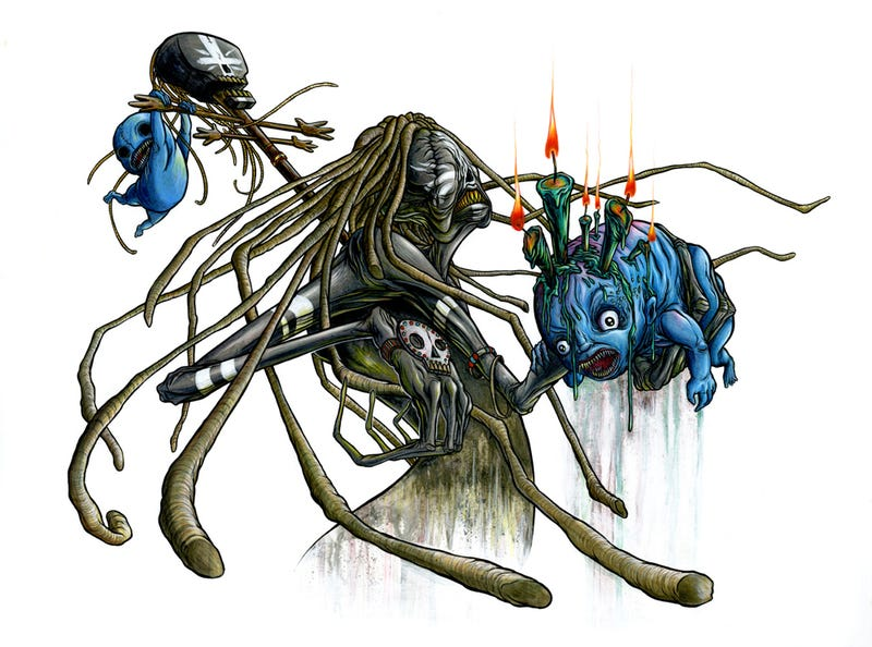 Illustration for article titled Sucker Punch artist Alex Pardee shows you what your nightmares look like