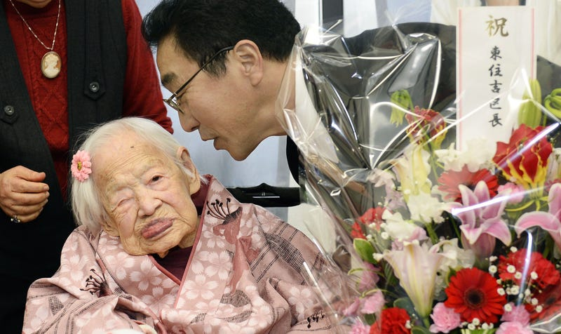 Illustration for article titled Oldest Person in the World Turns 117