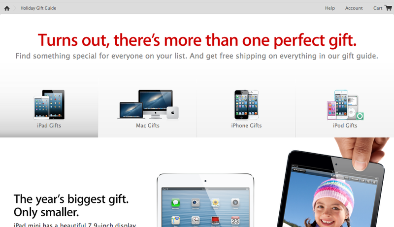 Illustration for article titled Seriously Though, Apple's Gift Guide Is Just the Apple Store
