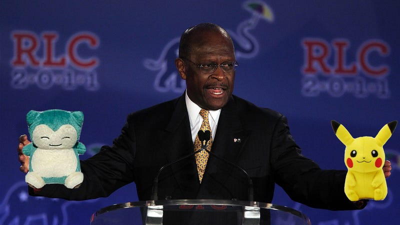 Illustration for article titled Republican Presidential Candidate Herman Cain Doesn't Want You to Know About His Pokémons