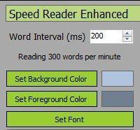 Illustration for article titled Speed Reader Enhanced is a Simple and Tiny Speed Reading Tool
