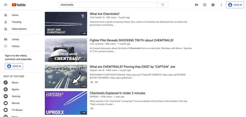 Don't Go Looking for Geoengineering Info on YouTube—It's Mostly Lies, Study Finds