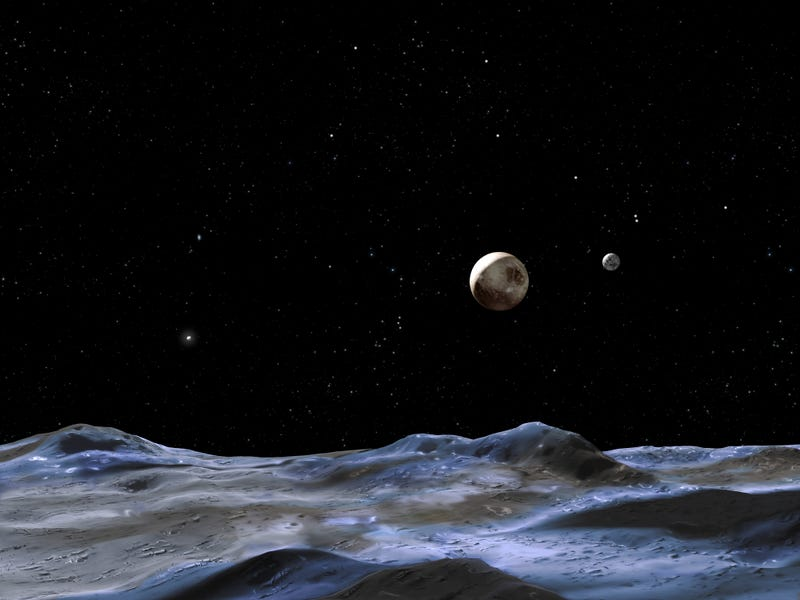 Illustration for article titled An Ocean On Pluto's Moon? Scientists Will Keep An Eye Out For Cracks.
