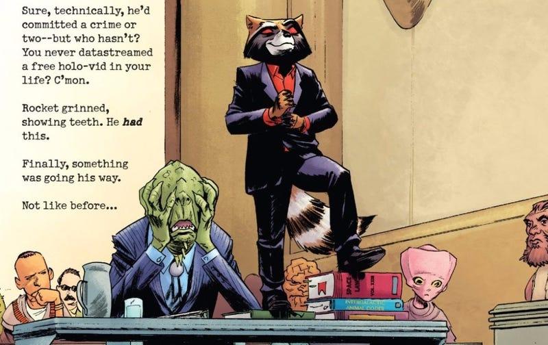 Illustration for article titled Rocket Makes the Best Comic Book Joke Ever
