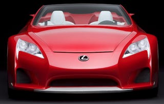 Illustration for article titled Detroit Auto show: Lexus Roadster in all its Press Shot Glory