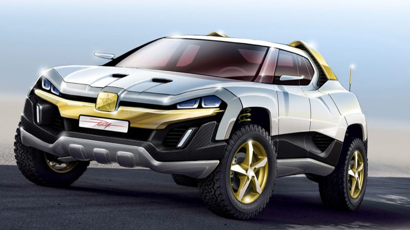 Illustration for article titled Insane Latvian Car Company Invents Totally Insane New Class Of Insane SUVs