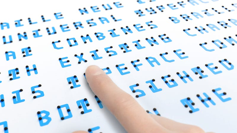 Illustration for article titled This Experimental Typeface Cleverly Combines Braille With the Latin Alphabet