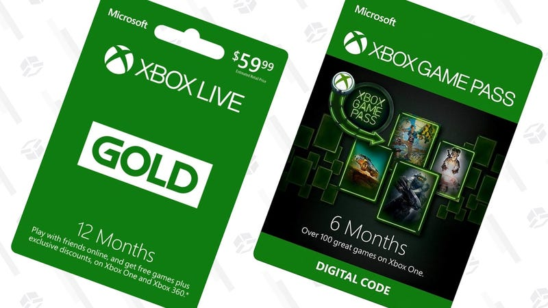 1 Year Xbox Live Gold | $40 | Microsoft3 Month Xbox Game Pass | $10 | Microsoft