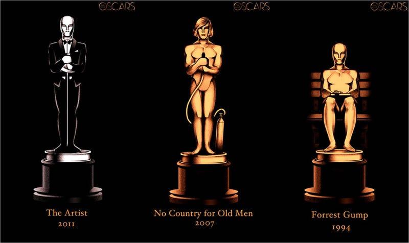 Illustration for article titled 85 años de Óscars a la mejor película en un solo póster