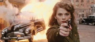 Illustration for article titled Peggy Carter kicks so much ass in the new Agent Carter clip