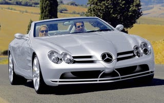 Illustration for article titled Silver Arrow Droptop: Mercedes McLaren SLR Convertible Confirmed