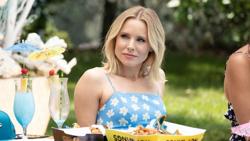 Eleanor (Kristen Bell) celebrates a funeral while waiting for the biggest ruling in history.