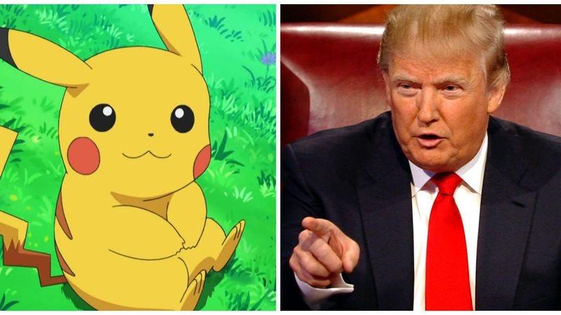 Photo: Pikachu (Pokemon) and Donald Trump (The Apprentice)