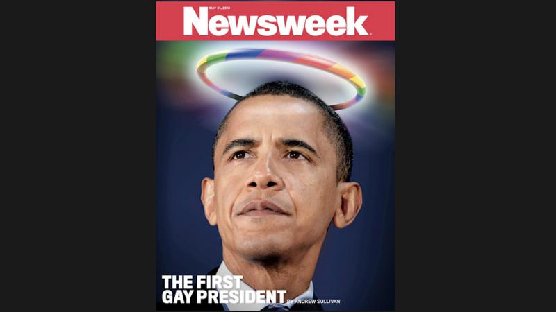 Illustration for article titled Newsweek Declares Barack Obama Gay