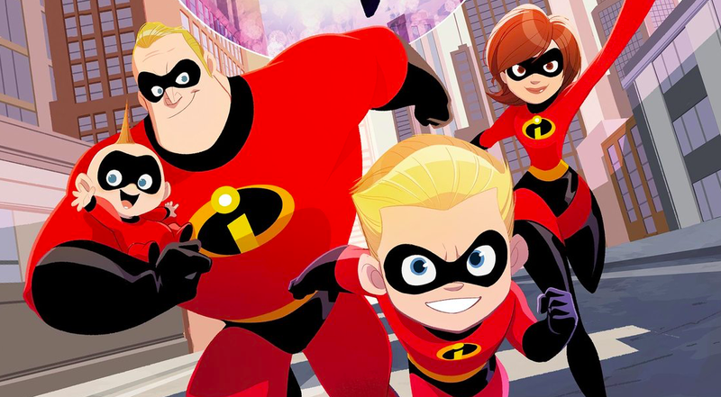 The cover of Incredibles 2: Heroes At Home.