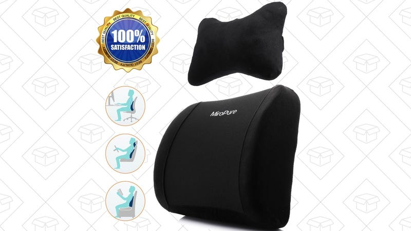 2-in-1 Lumbar Pillow Set, $15 with code YEM8CE7M