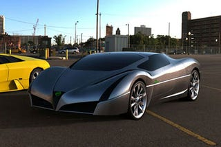 Illustration for article titled Styletto EV Electric Supercar