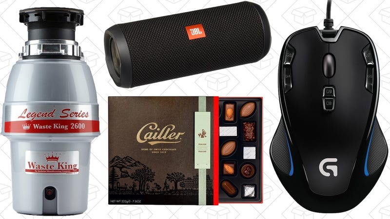 Illustration for article titled Today's Best Deals: Waste Kings, 25% Off Chocolate, JBL Flip, and More
