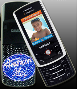 Illustration for article titled Cingular Auctions American Idol -Themed Samsung D807s Signed By Bon Jovi and Ryan Seacrest