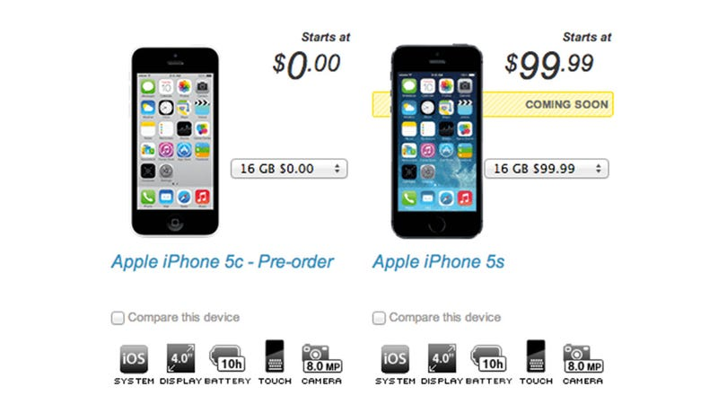 Illustration for article titled New Sprint Customers Can Knock $100 Off iPhone 5S or 5C