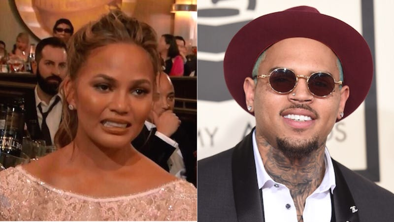 Illustration for article titled Chris Brown Has Blocked Chrissy Teigen on Twitter. Congrats, Chrissy!
