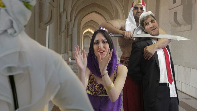 Illustration for article titled Lovestruck Arabian Princess Begs Father To Spare John Kerry's Life