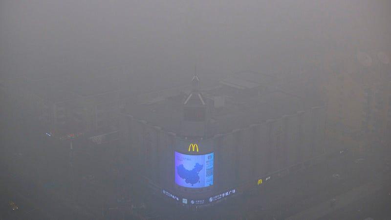 Illustration for article titled Las autoridades chinas decretan la alerta roja por contaminación en Pekín