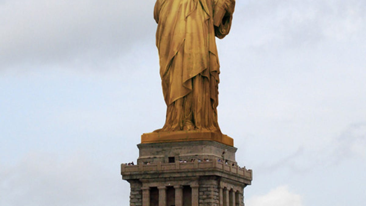 Statue Of Liberty Copper To Green Stained Glass Ideas