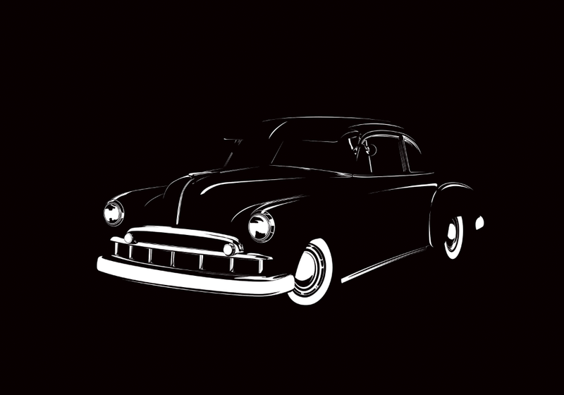 Illustration for article titled Here's a drawing of a 49 Chevy Club Coupe.