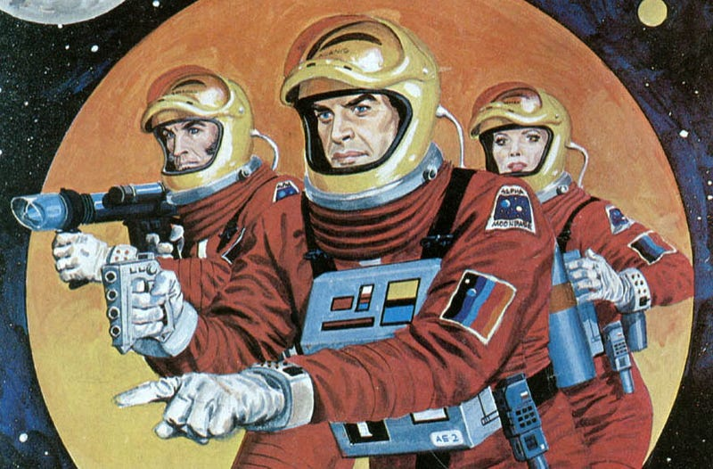 Gray Morrow painted the future for Carlton Comics' black and white magazine.