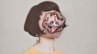 Illustration for article titled Portraits of people with origami faces are beautiful and mind-boggling