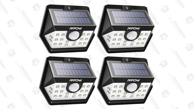 4-Pack Mpow Solar Spotlights   $30   Amazon   Promo code 3GBZ7OU3