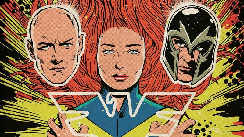 The Dark Phoenix poster presented at Comic-Con Brazil.