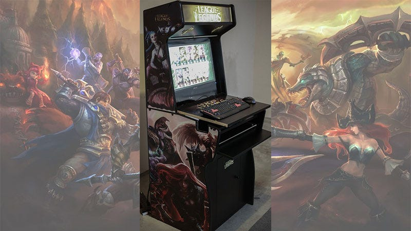 Illustration for article titled League Of Legends Arcade Cabinet Is A Brilliant Idea