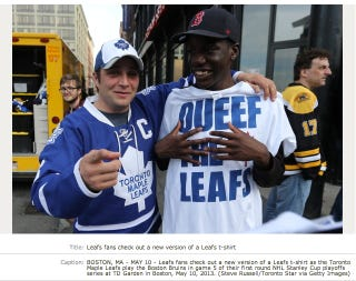 "Illustration for article titled ""Queef The Leafs"" Shirts Are Confusing To Everyone"