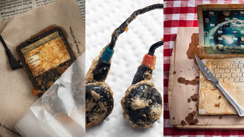 Illustration for article titled You'll Want to Devour Your iPod and These Other Deep-Fried Gadgets
