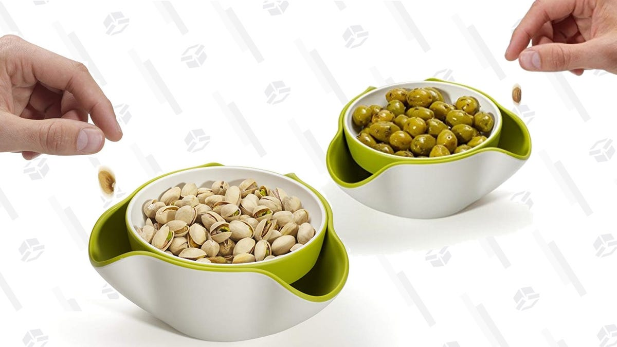 The Smartest Little Snack Bowl Keeps Your Olive Pits Out of Sight - Just $14 Today