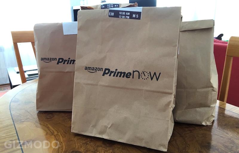 Illustration for article titled Probamos Amazon Prime Now en España: un gran paso, pero aquí hay mucho por mejorar