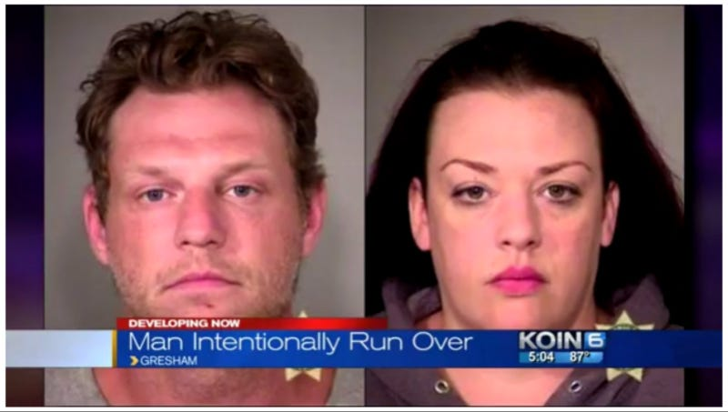 Courtier and Hunt in booking photos. Screenshot via KOIN 6