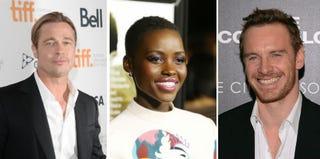 Brad Pitt; Lupita Nyong'o; Michael Fassbender (Getty Images)