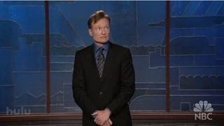 Illustration for article titled Conan O'Brien Gets Topical with Video Game Sales, Bombs