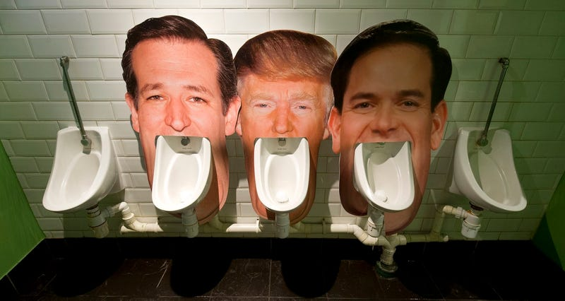 Photo of urinals at a pub in London, which is frankly beneath the dignity of an esteemed website like Gizmodo to publish (Justin Tallis/AFP/Getty Images)